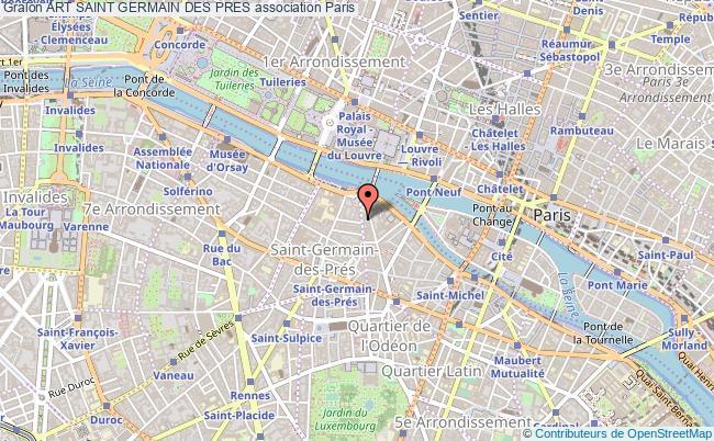 plan association Art Saint Germain Des Pres