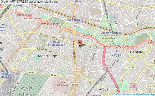 plan association Arti'street Montrouge