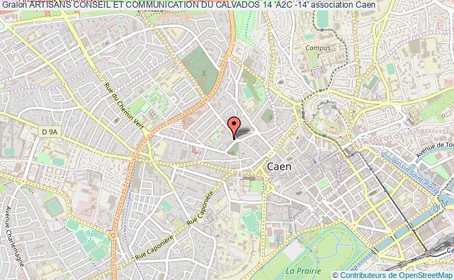 plan association Artisans Conseil Et Communication Du Calvados 14 'a2c -14'