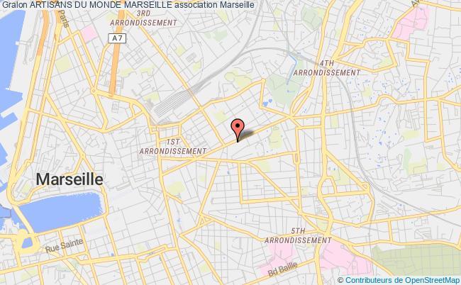 plan association Artisans Du Monde Marseille