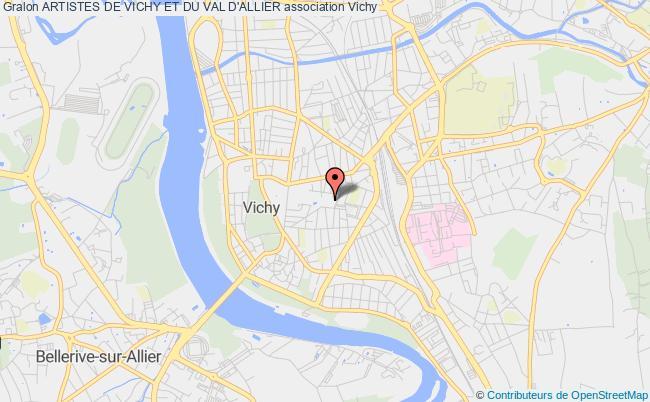 plan association Artistes De Vichy Et Du Val D'allier