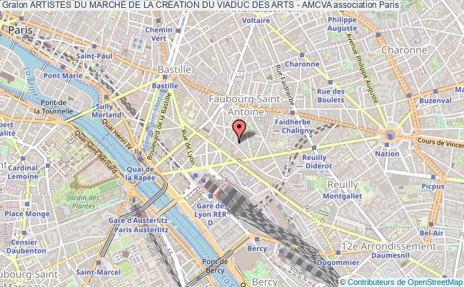plan association Artistes Du MarchÉ De La CrÉation Du Viaduc Des Arts - Amcva Paris
