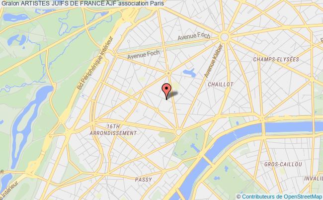 plan association Artistes Juifs De France Ajf