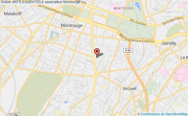 plan association Arts Essentiels Montrouge