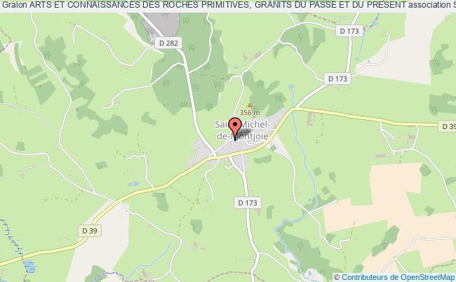 plan association Arts Et Connaissances Des Roches Primitives, Granits Du Passe Et Du Present Saint-Michel-de-Montjoie