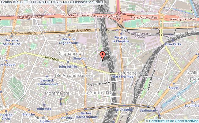 plan association Arts Et Loisirs De Paris Nord