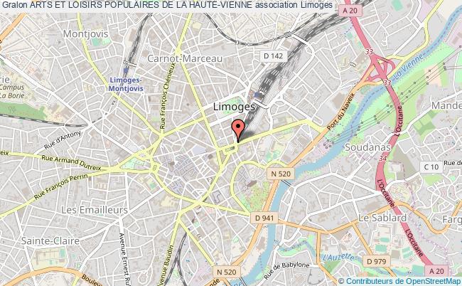 plan association Arts Et Loisirs Populaires De La Haute-vienne