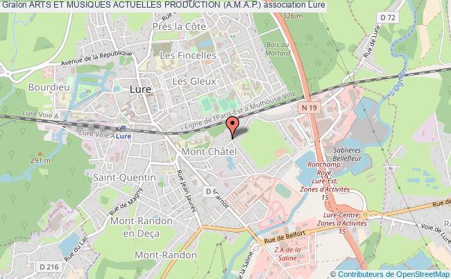 plan association Arts Et Musiques Actuelles Production (a.m.a.p.)