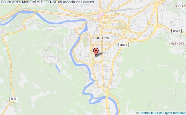 plan association Arts Martiaux-defense 65 Lourdes