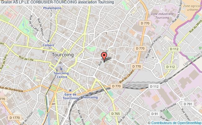 plan association As Lp Le Corbusier-tourcoing Tourcoing