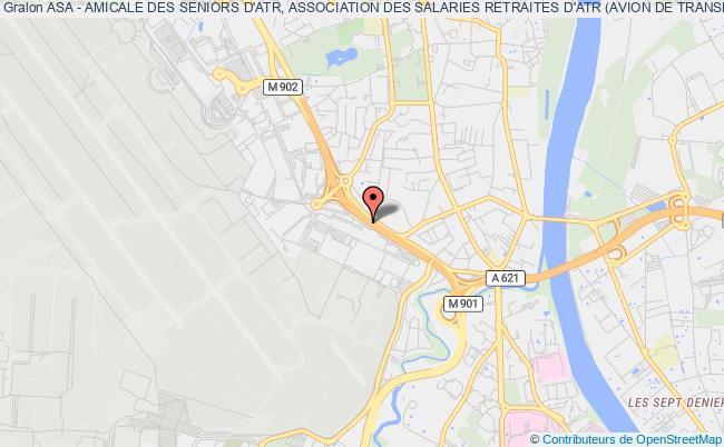 plan association Asa - Amicale Des Seniors D'atr, Association Des Salaries Retraites D'atr (avion De Transport Regional)