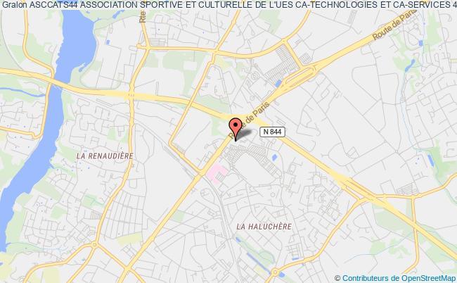 plan association Asccats44 Association Sportive Et Culturelle De L'ues Ca-technologies Et Ca-services 44