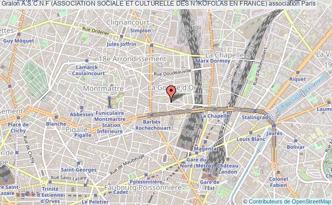 plan association A.s.c.n.f (association Sociale Et Culturelle Des N?kofolas En France) Paris