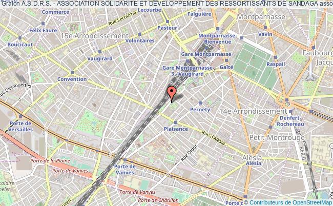 plan association A.s.d.r.s. - Association Solidarite Et Developpement Des Ressortissants De Sandaga Paris
