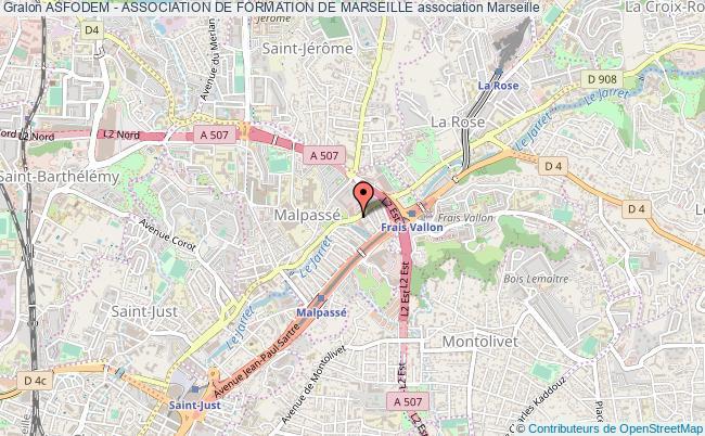 plan association Asfodem - Association De Formation De Marseille Marseille