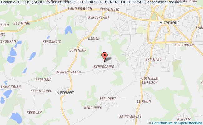 plan association A.s.l.c.k. (association Sports Et Loisirs Du Centre De Kerpape)