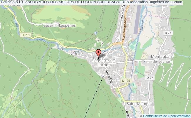 plan association A.s.l.s Association Des Skieurs De Luchon Superbagneres Bagnères-de-Luchon