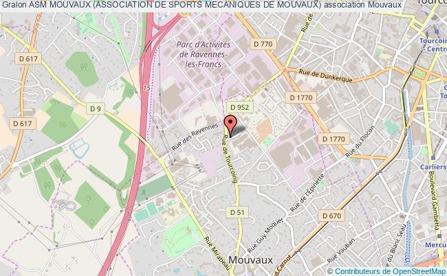 plan association Asm Mouvaux (association De Sports Mecaniques De Mouvaux)