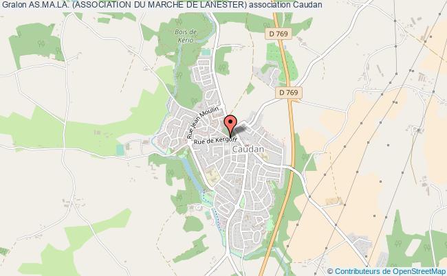 plan association As.ma.la. (association Du Marche De Lanester) Caudan