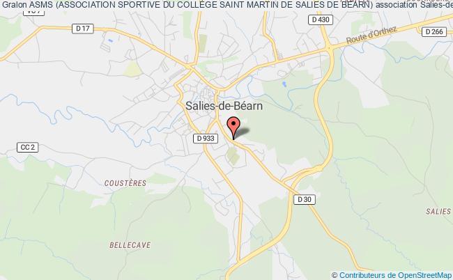 plan association Asms (association Sportive Du CollÈge Saint Martin De Salies De Bearn)