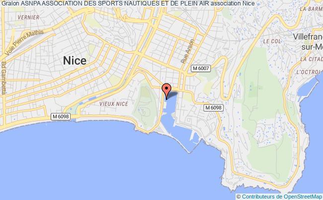 plan association Asnpa Association Des Sports Nautiques Et De Plein Air Nice