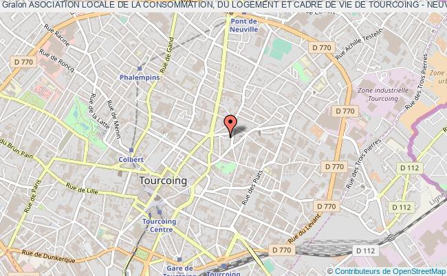 plan association Asociation Locale De La Consommation, Du Logement Et Cadre De Vie De Tourcoing - Neuville (c.l.c.v.)