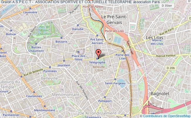 plan association A.s.p.e.c.t -  Association Sportive Et Culturelle Telegraphe