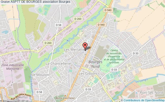 plan association Asptt De Bourges Bourges