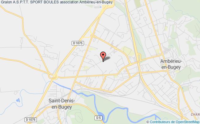 plan association A.s.p.t.t. Sport Boules Ambérieu-en-Bugey