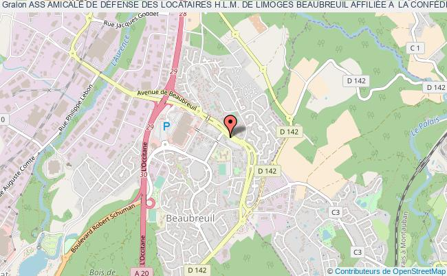 plan association Ass Amicale De DÉfense Des Locataires H.l.m. De Limoges Beaubreuil AffiliÉe A  La ConfÉdÉration Nationale Du Logement