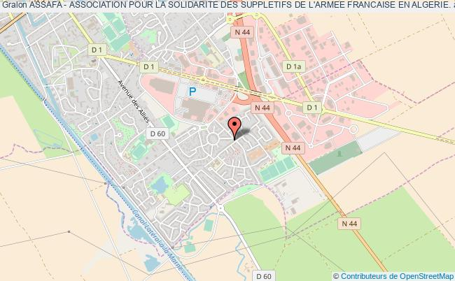 plan association Assafa - Association Pour La Solidarite Des Suppletifs De L'armee Francaise En Algerie.