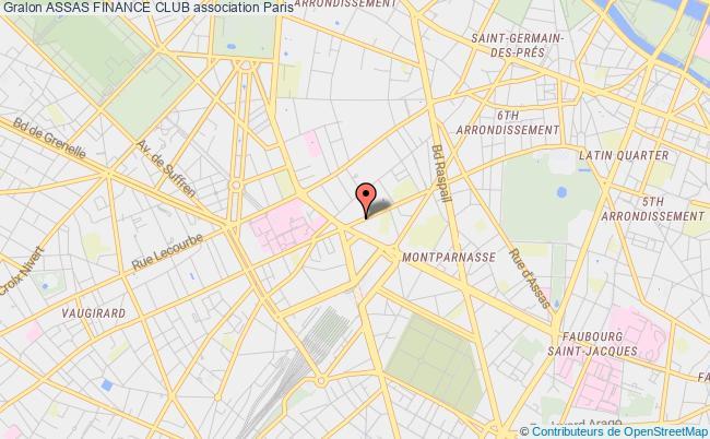plan association Assas Finance Paris 6e