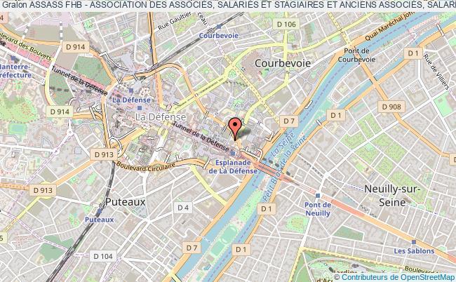 plan association Assass Fhb - Association Des AssociÉs, SalariÉs Et Stagiaires Et Anciens AssociÉs, SalariÉs Et Stagiaires De Fhb Courbevoie