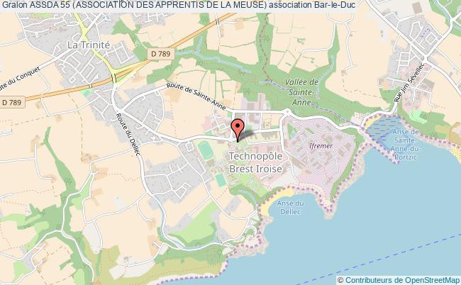 plan association Assda 55 (association Des Apprentis De La Meuse) Bar-le-Duc Cedex