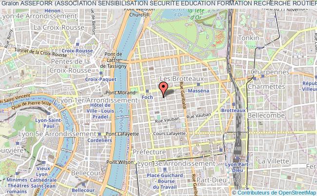 plan association Asseforr (association Sensibilisation Securite Education Formation Recherche Routiere)