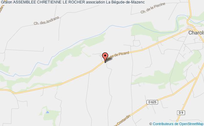 plan association Assemblee Chretienne Le Rocher La    Bégude-de-Mazenc