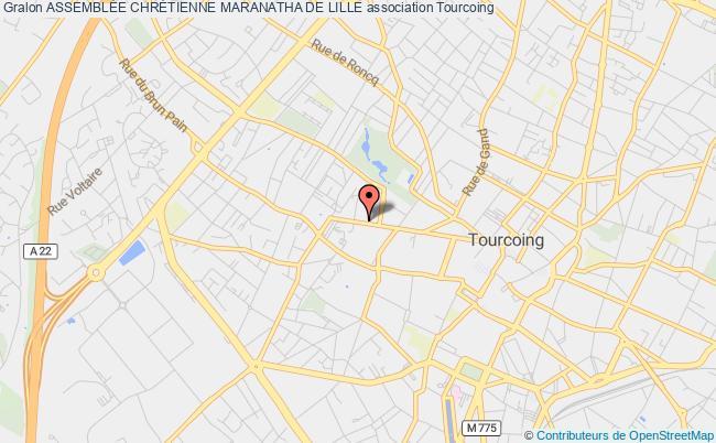 plan association AssemblÉe ChrÉtienne Maranatha De Lille