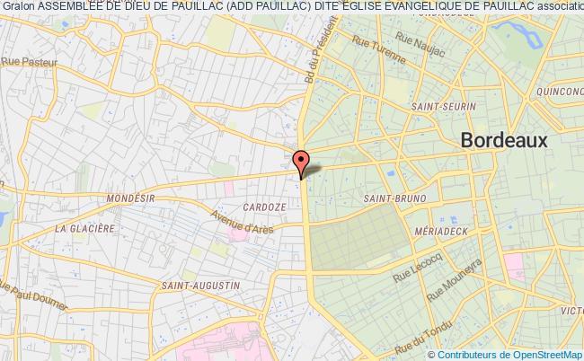 plan association Assemblee De Dieu De Pauillac (add Pauillac) Dite Eglise Evangelique De Pauillac Bordeaux