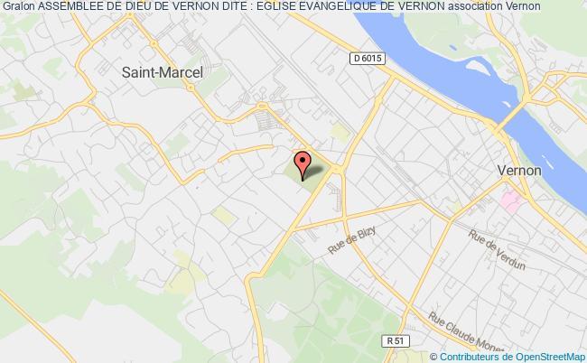 plan association Assemblee De Dieu De Vernon Dite : Eglise Evangelique De Vernon