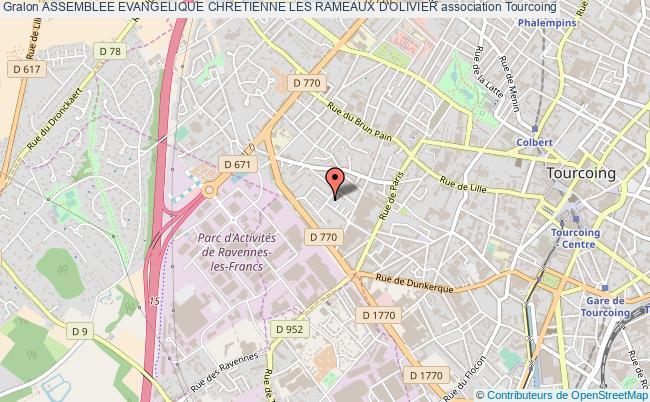 plan association Assemblee Evangelique Chretienne Les Rameaux D'olivier