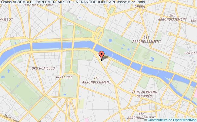 plan association Assemblee Parlementaire De La Francophonie Apf Paris