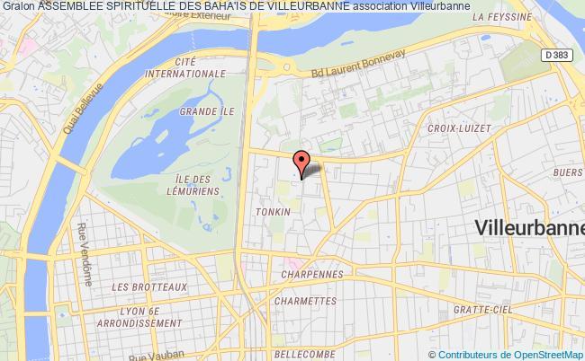 plan association Assemblee Spirituelle Des Baha'is De Villeurbanne