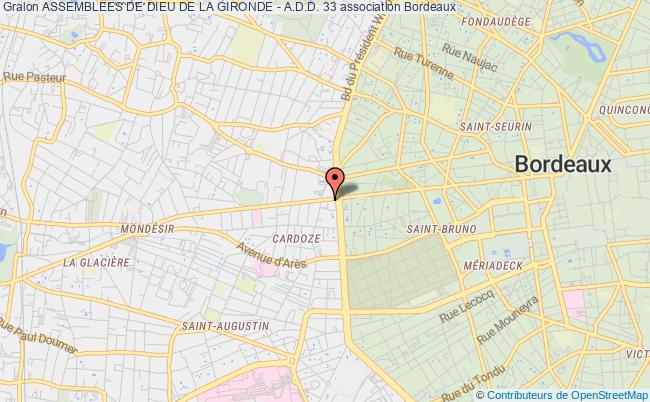 plan association Assemblees De Dieu De La Gironde - A.d.d. 33 Bordeaux