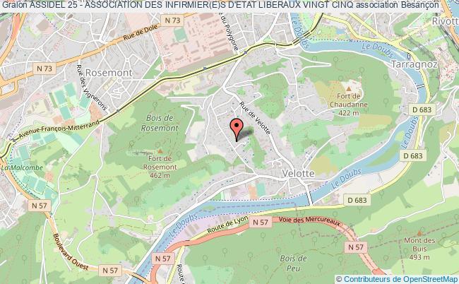 plan association Assidel 25 - Association Des Infirmier(e)s D'etat Liberaux Vingt Cinq
