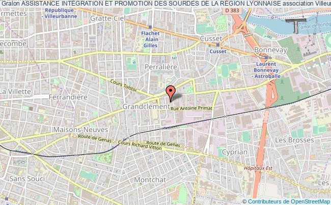 plan association Assistance IntÉgration Et Promotion Des Sourdes De La RÉgion Lyonnaise