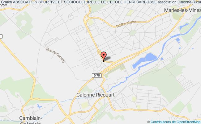 plan association Assocation Sportive Et Socioculturelle De L'ecole Henri Barbusse