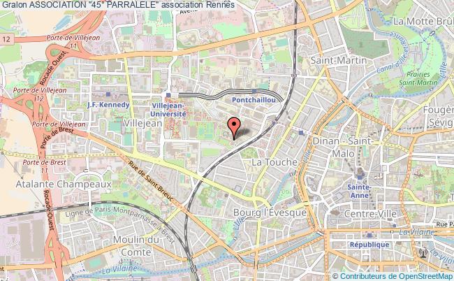 """plan association Association """"45° Parralele"""" Rennes"""
