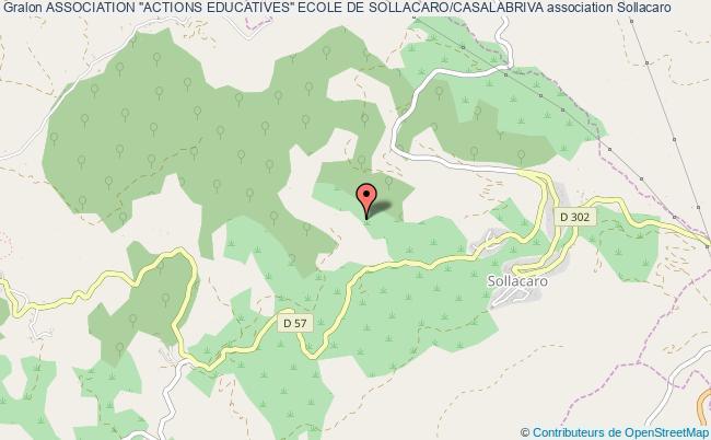 """plan association Association """"actions Educatives"""" Ecole De Sollacaro/casalabriva"""