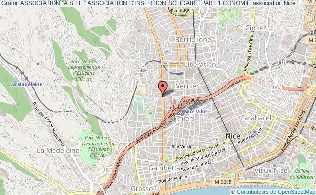 """plan association Association """"a.s.i.e."""" Association D'insertion Solidaire Par L'economie Nice"""