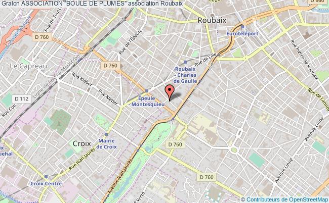 """plan association Association """"boule De Plumes"""" Roubaix"""